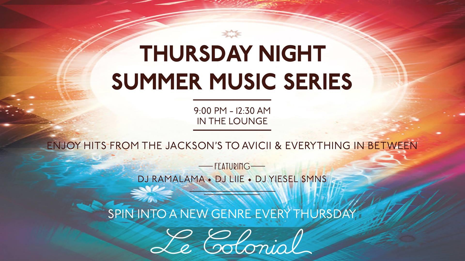 Le Colonial Summer Music Series
