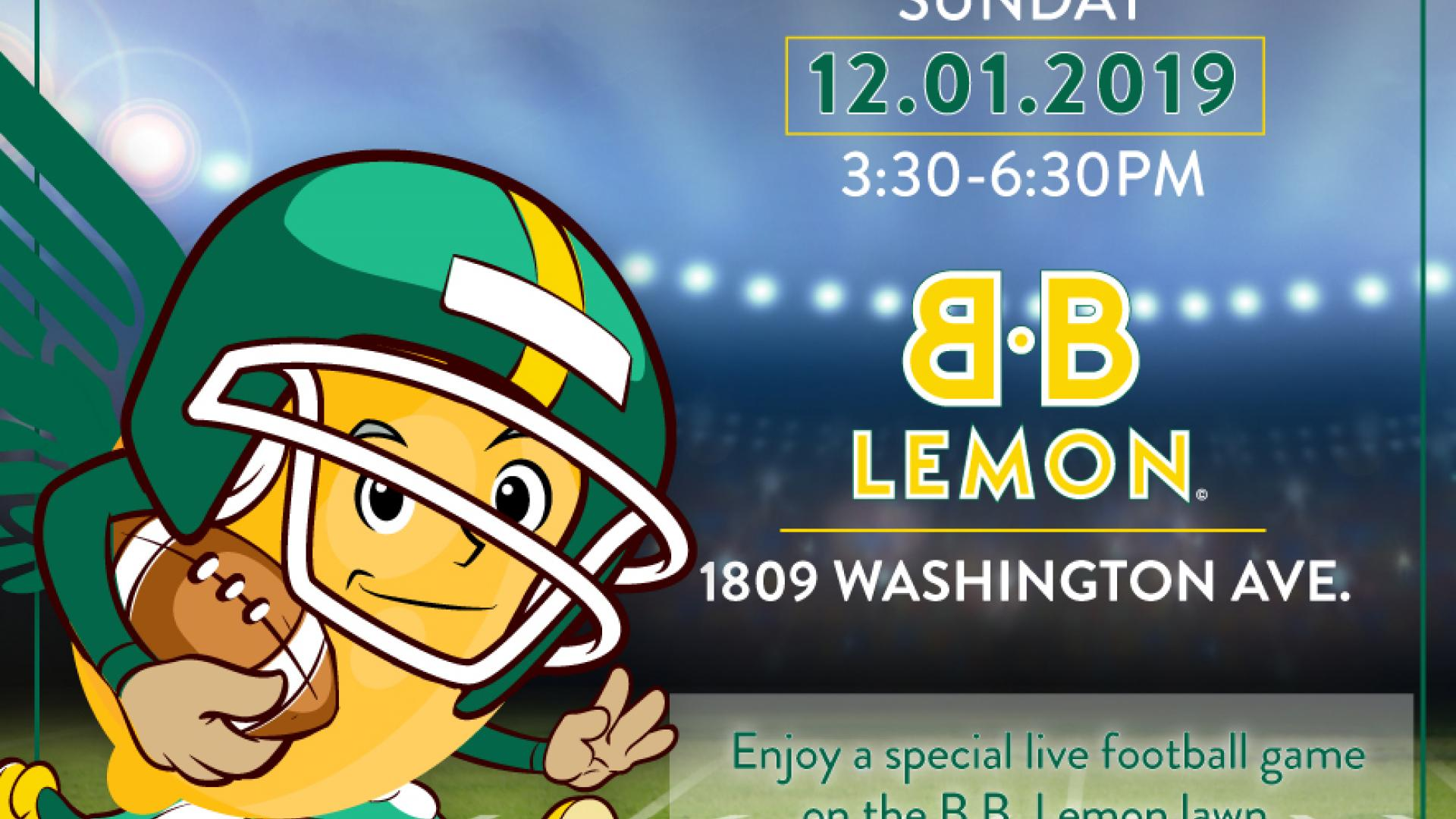BB Lemon Tailgate Party